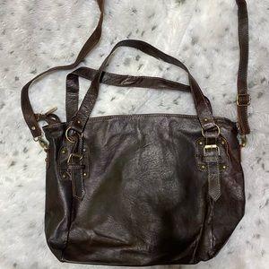 NWOT Vintage addiction brown leather handbag